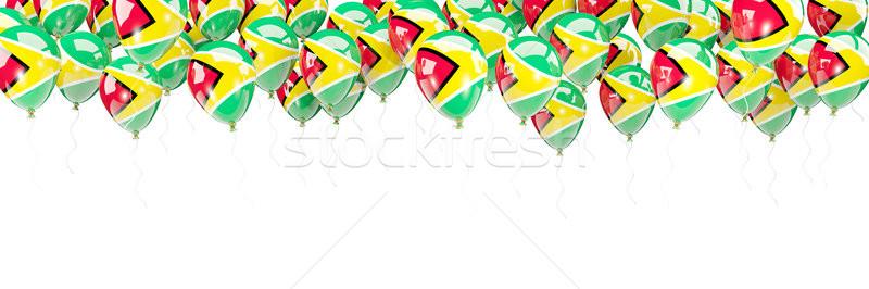 Ballonnen frame vlag Guyana geïsoleerd witte Stockfoto © MikhailMishchenko