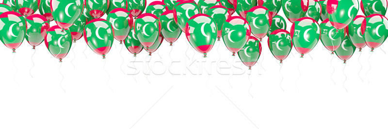 Balloons frame with flag of maldives Stock photo © MikhailMishchenko