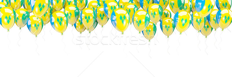 Balloons frame with flag of saint vincent and the grenadines Stock photo © MikhailMishchenko