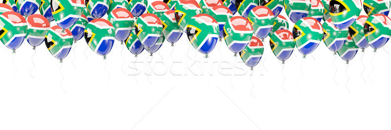 Balloons frame with flag of south africa Stock photo © MikhailMishchenko