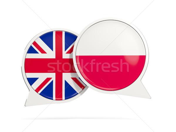 Conversar bubbles Polônia isolado branco ilustração 3d Foto stock © MikhailMishchenko