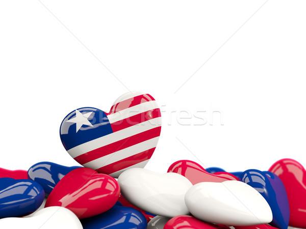 Heart with flag of liberia Stock photo © MikhailMishchenko