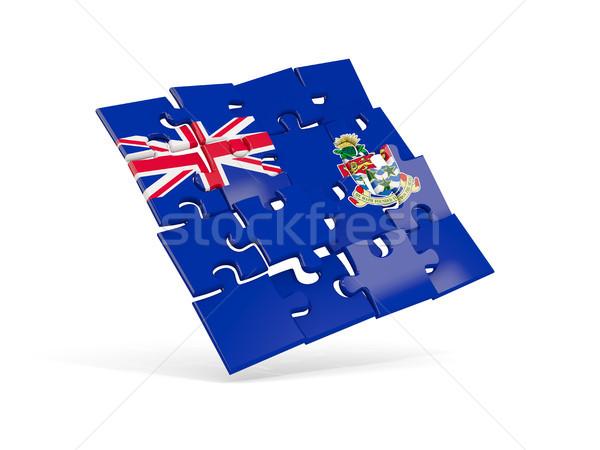 Puzzle flag of cayman islands isolated on white Stock photo © MikhailMishchenko