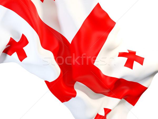 Stock fotó: Integet · zászló · Grúzia · közelkép · 3d · illusztráció · utazás