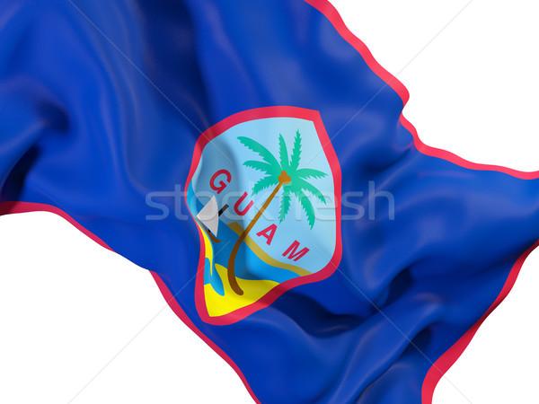 Waving flag of guam Stock photo © MikhailMishchenko