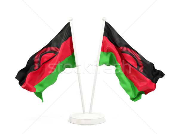 Two waving flags of malawi Stock photo © MikhailMishchenko