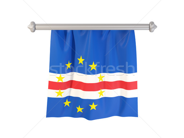 Pennant with flag of cape verde Stock photo © MikhailMishchenko