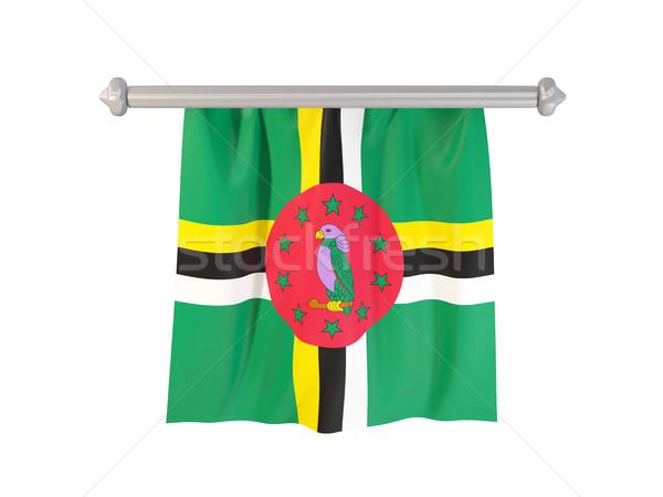 Vlag Dominica geïsoleerd witte 3d illustration label Stockfoto © MikhailMishchenko