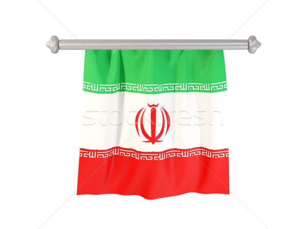 Vlag Iran geïsoleerd witte 3d illustration label Stockfoto © MikhailMishchenko