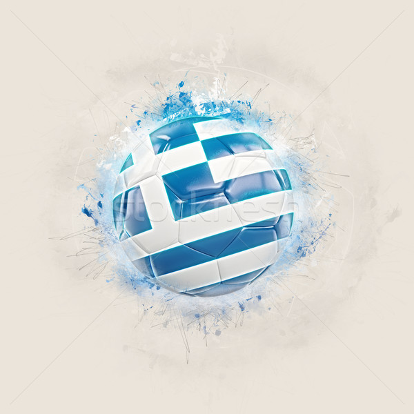 Grunge football with flag of greece Stock photo © MikhailMishchenko
