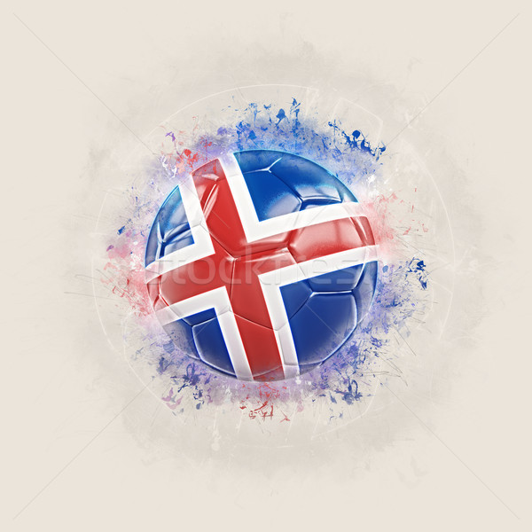 Grunge football with flag of iceland Stock photo © MikhailMishchenko