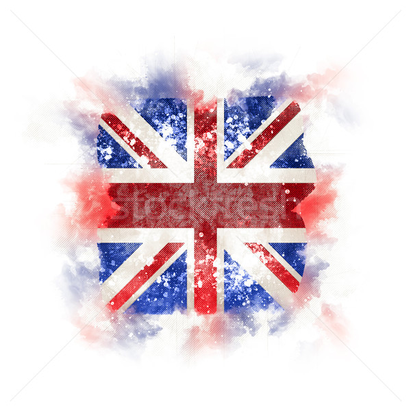 Tér grunge zászló Egyesült Királyság 3d illusztráció retro Stock fotó © MikhailMishchenko