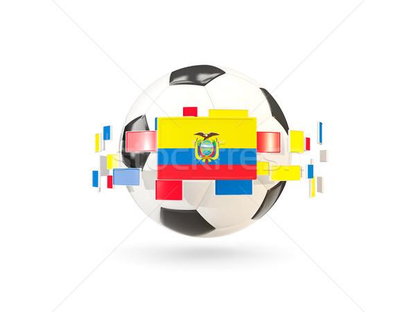 футбольным мячом линия флагами флаг Эквадор Сток-фото © MikhailMishchenko
