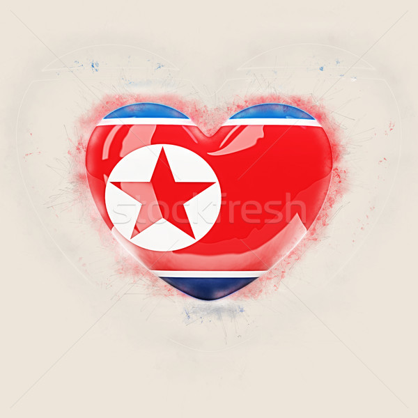 Heart with flag of north korea Stock photo © MikhailMishchenko