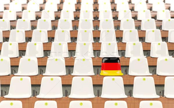 стадион сиденье флаг Германия белый Сток-фото © MikhailMishchenko