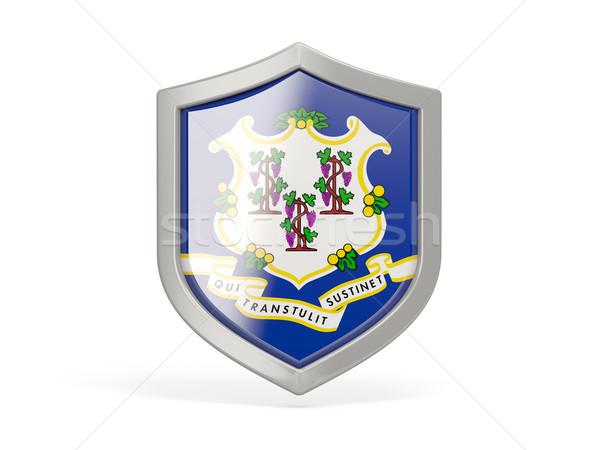 Escudo ícone bandeira Connecticut Estados Unidos local Foto stock © MikhailMishchenko