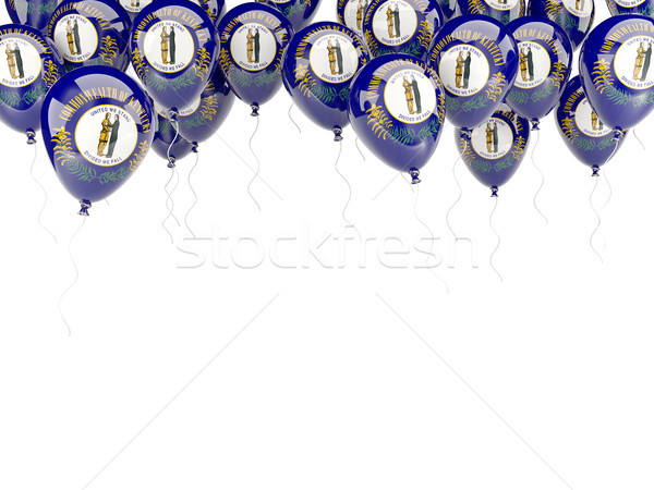 Balloons frame with flag of kentucky. United states local flags Stock photo © MikhailMishchenko