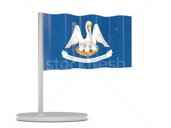 Bandiera pin Louisiana Stati Uniti locale bandiere Foto d'archivio © MikhailMishchenko