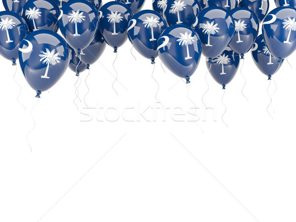 Balloons frame with flag of south carolina. United states local  Stock photo © MikhailMishchenko