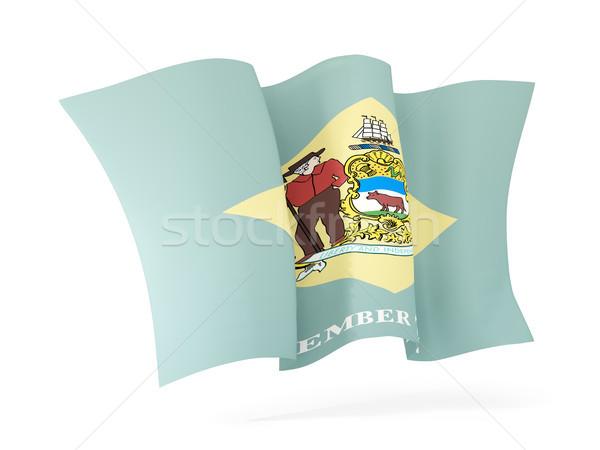 delaware state flag waving icon close up. United states local fl Stock photo © MikhailMishchenko