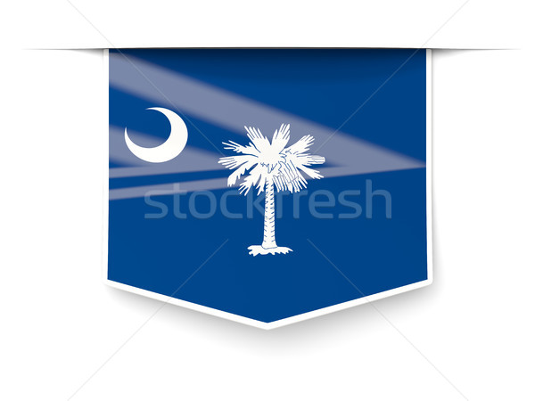 south carolina state flag square label with shadow. United state Stock photo © MikhailMishchenko