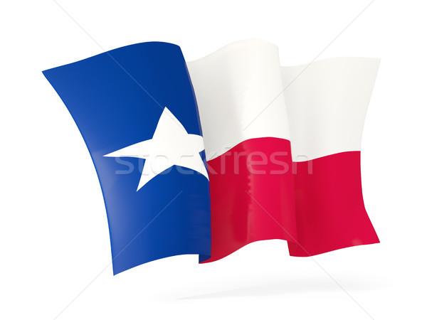 Texas zászló integet ikon közelkép Egyesült Államok Stock fotó © MikhailMishchenko