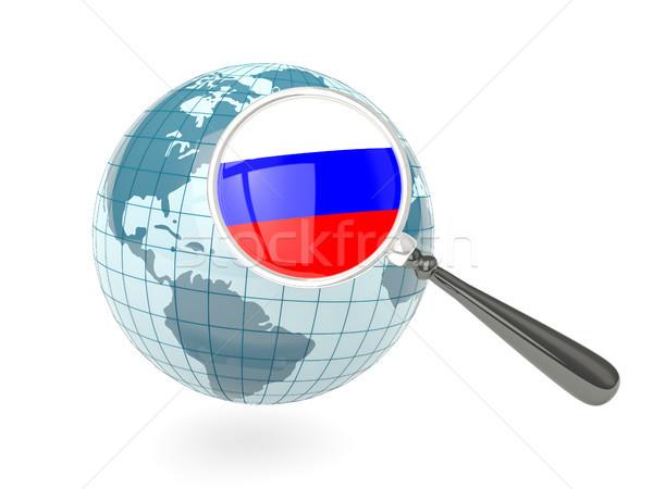 Stok fotoğraf: Bayrak · Rusya · mavi · dünya · yalıtılmış