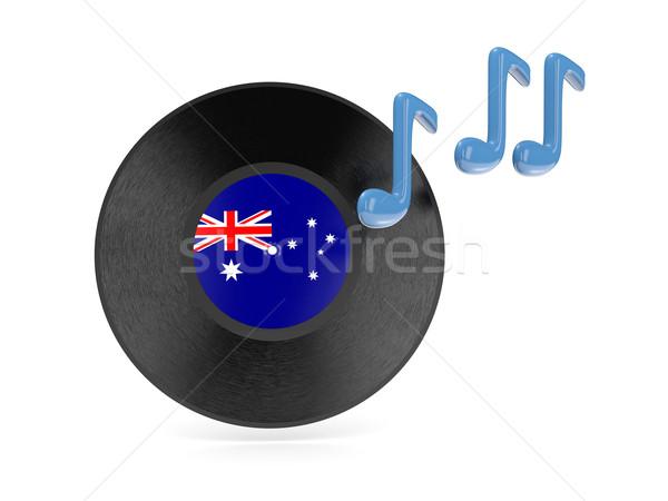 виниловых диск флаг Австралия изолированный белый Сток-фото © MikhailMishchenko