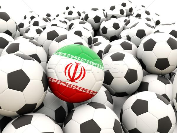 Futebol bandeira Irã regular verão Foto stock © MikhailMishchenko