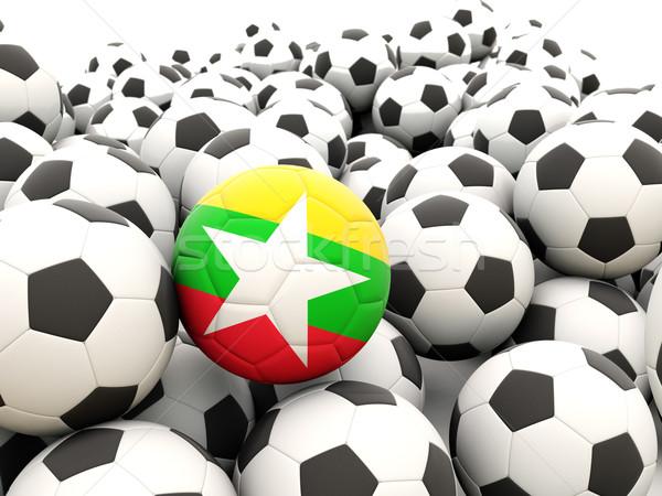 футбола флаг Мьянма регулярный лет Сток-фото © MikhailMishchenko