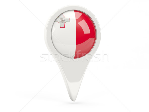Bandera icono Malta aislado blanco mapa Foto stock © MikhailMishchenko