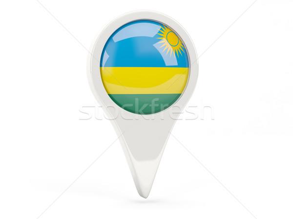 Round flag icon of rwanda Stock photo © MikhailMishchenko