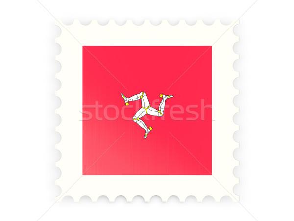 почтовая марка икона человека изолированный белый знак Сток-фото © MikhailMishchenko