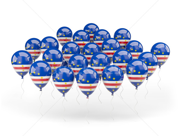 Balloons with flag of cape verde Stock photo © MikhailMishchenko