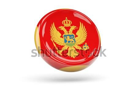 Round icon of flag of montenegro Stock photo © MikhailMishchenko