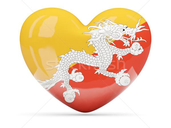 Hart icon vlag Bhutan geïsoleerd Stockfoto © MikhailMishchenko