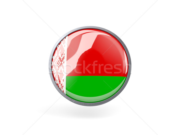 Round icon with flag of belarus Stock photo © MikhailMishchenko