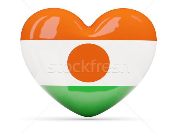 Corazón icono bandera Níger aislado Foto stock © MikhailMishchenko