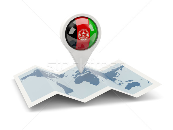 Round pin with flag of afghanistan Stock photo © MikhailMishchenko
