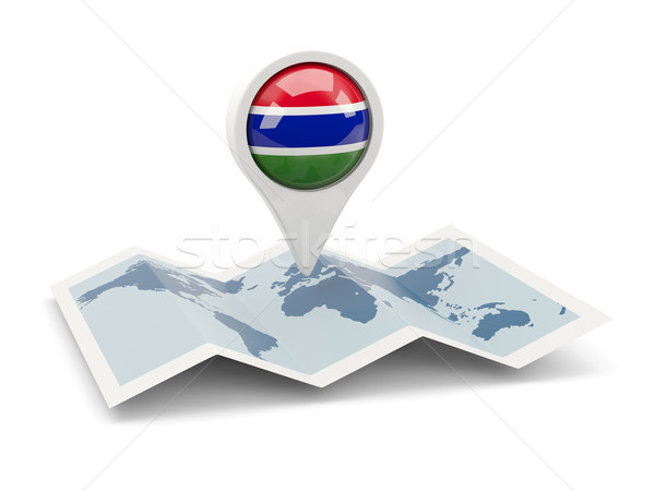 Round pin with flag of gambia Stock photo © MikhailMishchenko