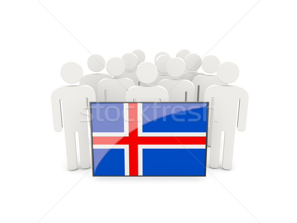 People with flag of iceland Stock photo © MikhailMishchenko