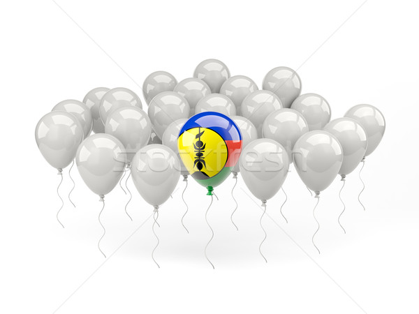 Air balloons with flag of new caledonia Stock photo © MikhailMishchenko
