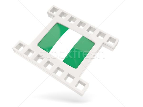 Film ikona banderą Nigeria odizolowany biały Zdjęcia stock © MikhailMishchenko
