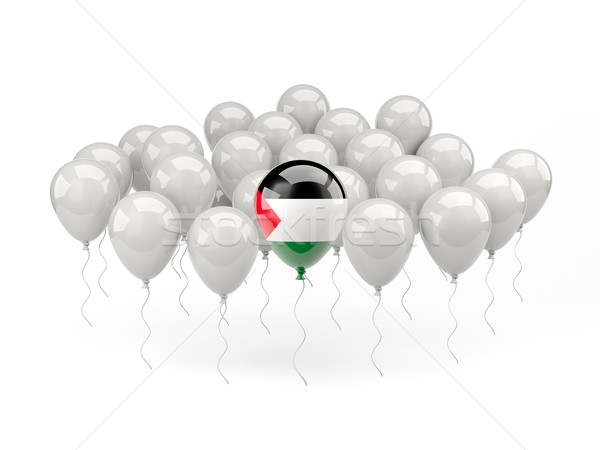 Air balloons with flag of palestinian territory Stock photo © MikhailMishchenko