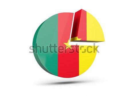 Adesivo bandeira Camarões isolado branco viajar Foto stock © MikhailMishchenko