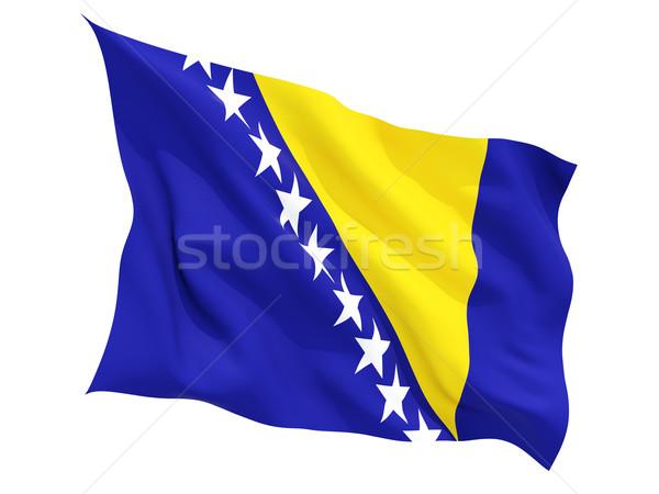 Foto stock: Bandera · Bosnia · Herzegovina · aislado · blanco