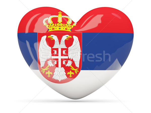 Corazón icono bandera Serbia aislado Foto stock © MikhailMishchenko