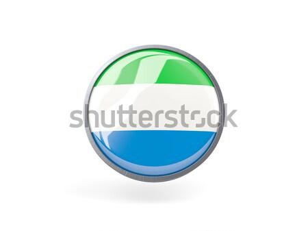 Round icon with flag of sierra leone Stock photo © MikhailMishchenko