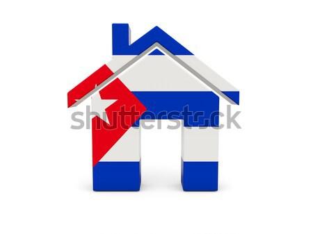 домой флаг Хорватия изолированный белый поиск Сток-фото © MikhailMishchenko
