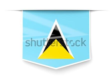 Flag label of saint lucia Stock photo © MikhailMishchenko